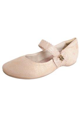 Sapato Scarpin Comfortflex Laço Bege