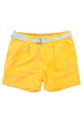 Bermuda Sarja Cinto Color Amarela - Cantão