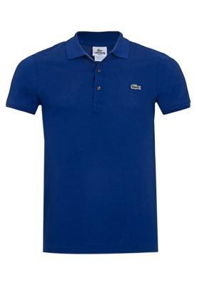 Camisa Polo Lacoste Unic Azul