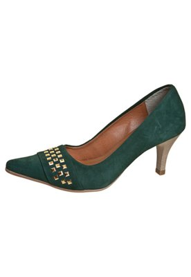 Sapato Scarpin FiveBlu Tachas Verde