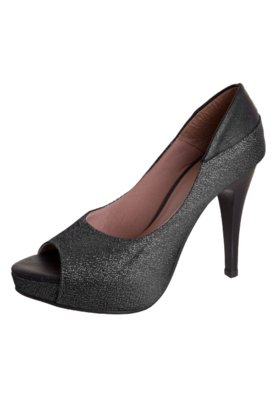 Peep Toe Glam Preto - Pink Connection