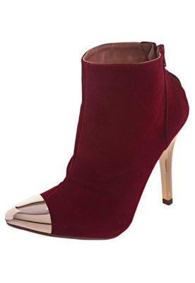 Ankle Boot Cap Toe Vermelha - FiveBlu