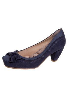 Sapato Scarpin Salto Médio Laço Azul - Crysalis
