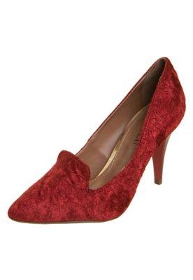 Sapato Scarpin FiveBlu Arabescos Vermelho