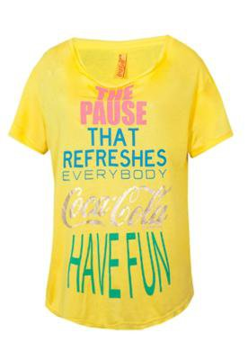 Blusa Coca Cola Clothing Boy The Pause Amarela
