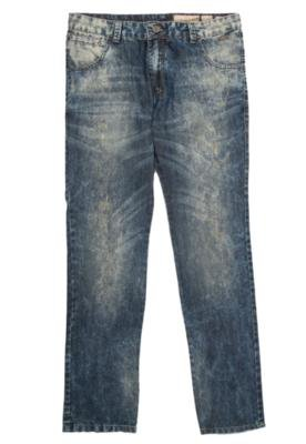Calça Jeans MCD Reta New Slim Alvejada Azul