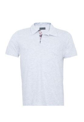 Camisa Polo Lemon Grove Pocket Cinza