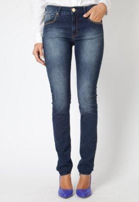 Calça Jeans Forum Verônica Slim Bordado Azul