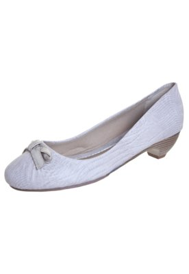 Sapato Scarpin Anna Flynn Life Laço Bege