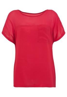 Blusa Colcci Loose Recorte Vermelha