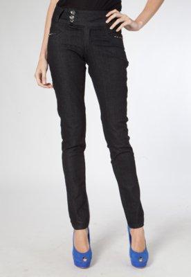 Calça Jeans Skinny Rocker Preta - Sawary