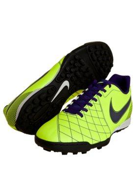 Chuteira Society Nike FlareTF Amarela