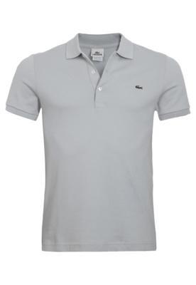 Camisa Polo Lacoste Unic Cinza