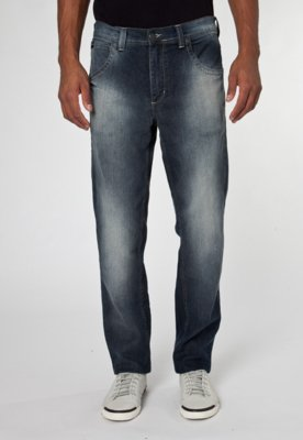 Calça Jeans Toulon Slim Fit Used Azul