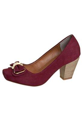 Sapato Scarpin FiveBlu Laço Vinho