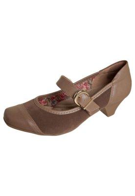 Sapato Scarpin Anna Flynn Shine Marrom