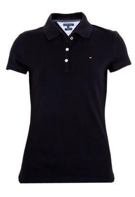 Camisa Polo Tommy Hilfiger STR Fttd Lic Preta