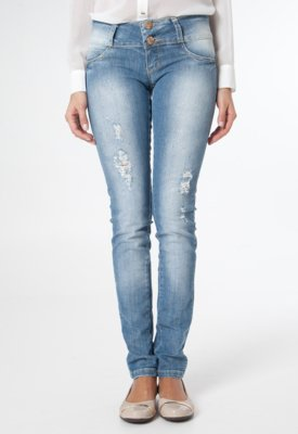 Calça Jeans Sawary Skinny Fashion Azul