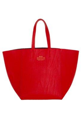 Bolsa Sacola Ellus Prática Vermelha/Azul