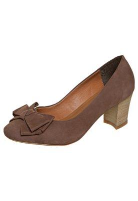 Sapato Scarpin FiveBlu Laço Marrom