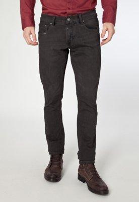 Calça Jeans Handbook Maxwell Reta Marrom