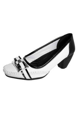Sapato Scarpin Anna Flynn Laço Branco