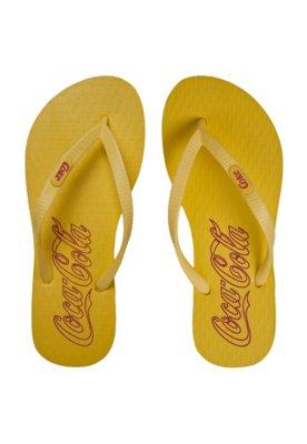 Sandália Coca-Cola Shoes Collors Amarela - Coca Cola Shoes