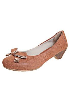 Sapato Scarpin Anna Flynn Laço Marrom