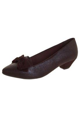 Sapato Scarpin Crysalis Baixo Laço Marrom