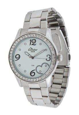 Relógio Condor KW26603B Love Prata