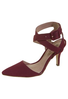 Sapato Scarpin Semi Aberto Tiras Cruzadas Vinho - Biondini