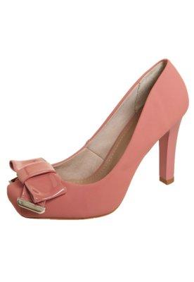 Sapato Scarpin FiveBlu Laço Verniz Rosa