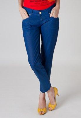 Calça Jeans Coca Cola Clothing Slim Woman Azul
