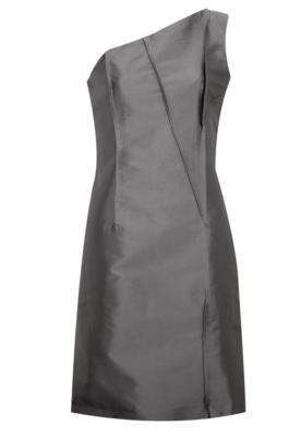 Vestido Seda Maria Bonita Ribbing Cinza