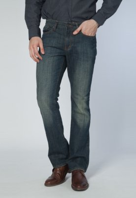 Calça Jeans Kenneth Cole Inove Boot Cut Azul