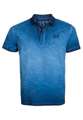 Camisa Polo Rockstter Tie Dye Azul