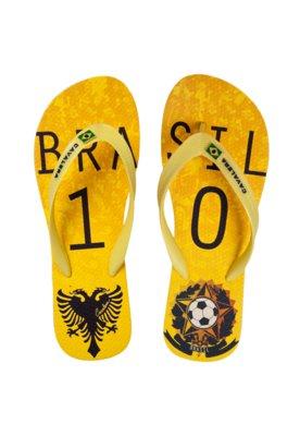 Chinelo Cavalera Brasil Amarelo
