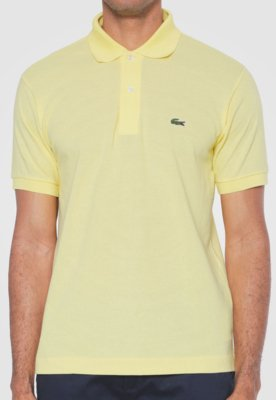 Camisa Polo Live Amarela - Lacoste