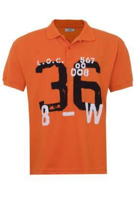 Camisa Polo FiveBlu Number Laranja