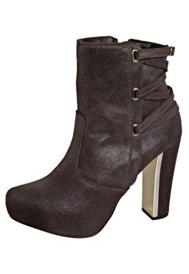 Ankle Boot Tiras Marrom - FiveBlu