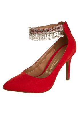 Sapato Scarpin Vizzano Pulseira Pedraria Vermelho