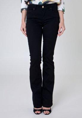 Calça Jeans Iódice Boot Cut Donna Preta