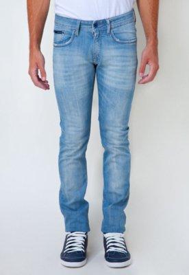 Calça Jeans Calvin Klein Jeans Skinny Stone Wash Azul