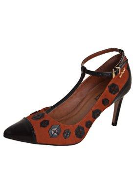 Sapato Scarpin Colcci Patchwork Marrom/Preto