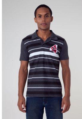 Camisa Polo FiveBlu Guto Cinza