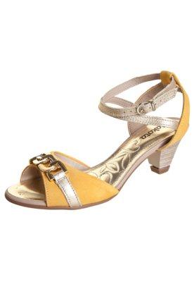 Sandália Dakota Salto Amortecedor Corrente Amarela