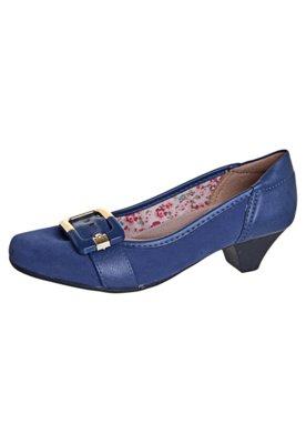 Sapato Scarpin Fivela Tira Azul - Anna Flynn