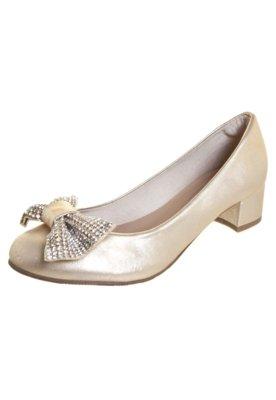 Sapato Scarpin FiveBlu Shine Dourado
