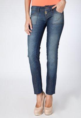 Calça Jeans Coca-Cola Clothing Elástica Happiness Azul - C...