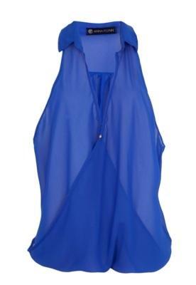 Blusa Regata Anna Flynn Class Azul